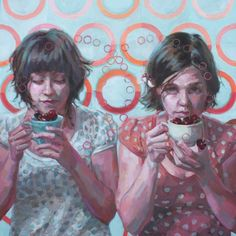 "Jennifer Balkan. I Wish Life Was Just…, 2012. Oil and pencil on wood, 30 x 30""."