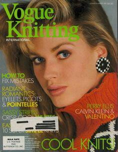 VOGUE KNITTING Spring Summer 1987 Romantic Sweaters Valentino Calvin Klein #VogueKnitting #Sweaters #KnittingPatterns