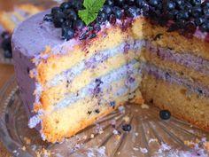 Borůvkový mascarpone dort