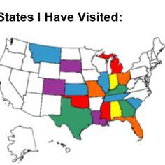 States I have visited!