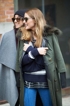 Olivia Palermo - NEW YORK FASHION WEEK STREET STYLE: FALL 2015   - HarpersBAZAAR.com