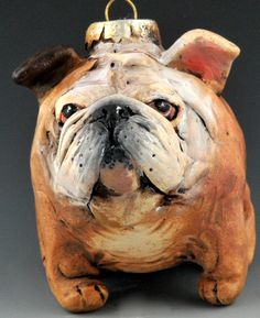 vintage style Bulldog ornie by uncommoncreatures on Etsy