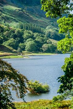 Rydal Water from the garden of William Wordsworth's home, Cumbria, England