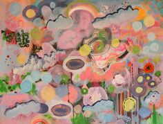 """Saatchi Online Artist: Mary Robertson; Acrylic, 2011, Painting """"Cotton Candy"""""""