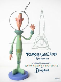 Disneyland Spaceman Figurine | Designers/Sculptors: Kevin Kidney and Jody Daily
