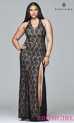 3b7a012afa7 Lace Plus-Size Long Faviana Prom Dress. Plus Size Gowns FormalPlus ...