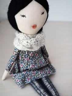 Handmade doll rag doll unique gift/ Aiko by lespetitesmainsS