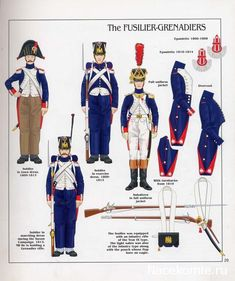 Imperial Guard, Fusilier Grenadiers, Soldiers & an Officer First French Empire, War Of 1812, Army Uniform, French Army, Mystery Of History, French Revolution, Napoleonic Wars, American Civil War, Military History