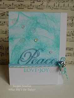 CAS peace Christmas card with bells