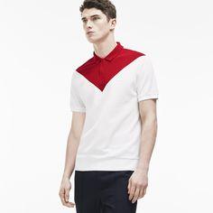 Lacoste Japan Fashion Show Zippered Polo in Colour Block Noppe Piqué Polo Shirt Design, Polo Design, T Shirt Polo, Mens Polo T Shirts, 3d T Shirts, Mens Tees, Lacoste, Camisa Polo, Men Fashion Show