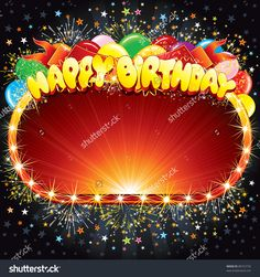 Happy Birthday Vector Background For Your Congratulations ...