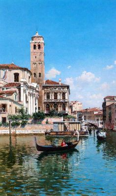 Federico del Campo The Palazzo-Labia,-Venice-1877