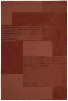 Grid 100% Wool Area Rug in Paprika design by Calvin Klein Home #marsala #pantone #coloroftheyear