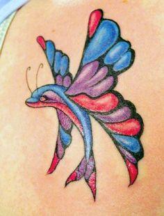 b8c391d0f butterfly butterfly dolphin butterflies tattoo tv piercing tattoo ... Hot  Tattoos, Flower Tattoos