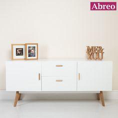 SCANDINAVIAN WHITE RETRO SIDEBOARD http://abreo.co.uk/living-room-furniture/modern-living-room-furniture/scandinavian-white-retro-sideboard http://abreo.co.uk/