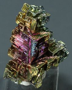 Bismuth iridescent laboratory-grown crystals by BandLMinerals