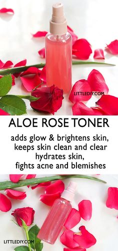 ALOE ROSE TONER for clear, glowing skin – Little DIY Toner is nothing but beauty water with skin beneficial ingredients that cleanse, hydrate and prepare skin for the next skin care product. Homemade Skin Care, Diy Skin Care, Skin Care Tips, Skin Tips, Homemade Products, Homemade Beauty, Rose Toner, Beauty Water, Skin Brightening