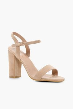 Womens Block Heel Barely There Heels - Beige - 9 Summer Feet, Latest Shoes, Jelly Sandals, Designer Heels, Fashion Face Mask, Shoe Collection, Your Shoes, Boohoo, Block Heels