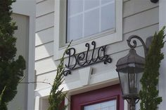 BELLA, #608 - Outer Banks Vacation Rental Home l Beach Cottage Sign l www.CarolinaDesigns.com Beach House Names, Beach House Signs, Beach Signs, Home Signs, Cottage Names, Cottage Signs, Outer Banks Vacation Rentals, Beach Cottages, Candle Sconces