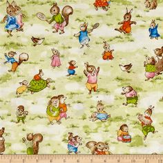 Kaufman Storybook Meadow Bunnies Vintage from @fabricdotcom  CUTE   From Robert Kaufman, this cotton print fabric features adorable bunnies and their friends hopping around the meadow. Perfect for quilting, apparel and home decor accents. Colors include cream, tan, light brown, orange, golden orange, pale yellow, pink, light pink, black, white and shades of blue and green.