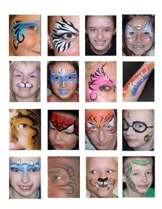 Hey there, I could use some help in finding some more super fast designs for kids faces. Face Painting Tips, Face Painting Tutorials, Face Painting Designs, Painting For Kids, Body Painting, Paint Designs, Balloon Face, Cheek Art, How To Make Paint