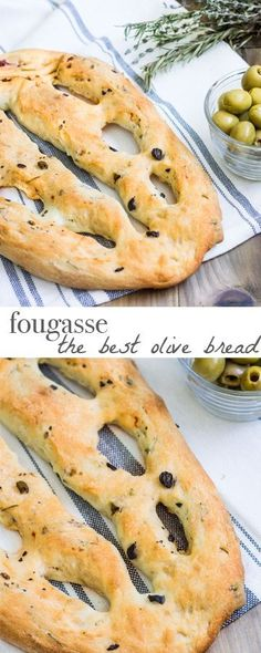 Absolutely irresistible! A French version of focaccia bread studded with mixed olives and fresh herbs. Recipe via http://MonPetitFour.com