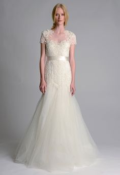 The new Marchesa wedding dresses have arrived! Take a look at what the latest Marchesa bridal collection has in store for newly engaged brides. Marchesa Wedding Dress, Ethereal Wedding Dress, Marchesa Bridal, Pretty Wedding Dresses, Wedding Dresses 2014, Bridal Dresses, Beautiful Dresses, Wedding Gowns, Bridesmaid Dresses