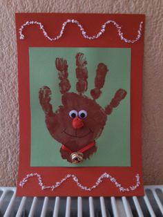 39 Christmas Handprint Cards for Kids - Christmas Decorating Ideas Kindergarten Christmas Crafts, Christmas Handprint Crafts, Christmas Art Projects, Christmas Activities, Christmas Crafts For Kids, Preschool Crafts, Christmas Themes, Christmas Fun, Holiday Crafts