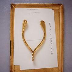 For the wishful - Brass Wishbone #westelm #Giftsunder$25