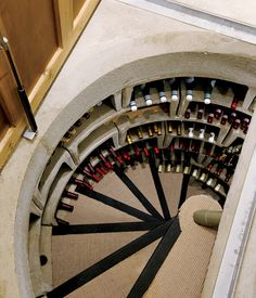 Beautiful wine cellar with an ingenious passive ventilation system . It maintains a constant temperature, and its stacked horizontal bins can store up to 1,400 bottles of wine.....