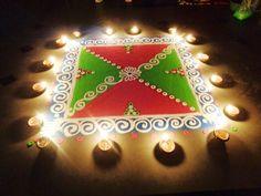 diwali special new rangoli - K211