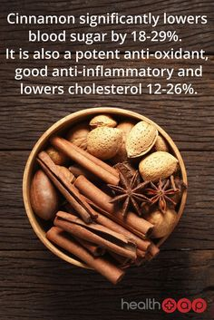 Cinnamon as a potent anti-oxidant, good anti-inflammatory and cholesterol-lowering food. #cinnamon #paleo health #healthyfood http://paleoaholic.com/