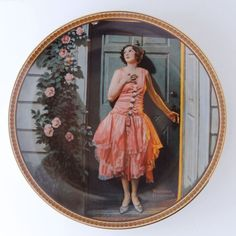 """Norman Rockwell Knowles Plate """"Standing in the Doorway"""""""