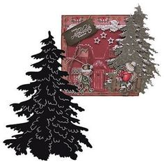 LARGE-CHRISTMAS-Tree-Die-Marianne-Design-Craftables-CR1224-Cutting-Embossing