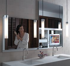 Uplift the look of your bathroom with the fabulous, aptly named Uplift medicine cabinet by Robern. The innovative bathroom brand broke convention in this cabinet design, avoiding the expected. Cabinet Design, Door Design, House Design, Wooden Bathroom, Rustic Bathrooms, Bathroom Trends, Bathroom Interior, Design Bathroom, Bathroom Ideas