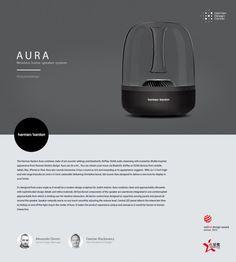 2013 - Harman Kardon Aura - Wireless home speaker system Web Design, Layout Design, Wireless Home Speaker System, Promo Flyer, Id Magazine, Presentation Design, Product Presentation, Harman Kardon, Creative Industries