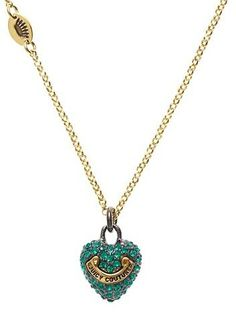 Juicy Couture Jewelry Puff Pave Heart Wish Necklace « Holiday Adds