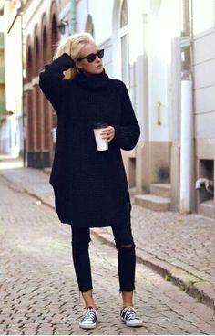 Street Style - Jumper Dress