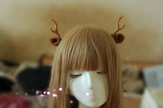 Antlers Headband Wool knit Wrapped Elk Cosplay Headband Fuzzy Ears, Bambi Headband, Animal costume hair accessories -8 colors added