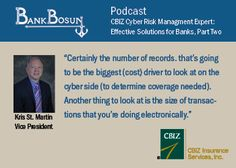 Part 2 of BankBosun Podcast on cyber crime in banking featuring Kris St. Martin.