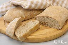 Paine de casa Ciabatta, rapida si fara framantare - cu poze! - LaLena.ro Ciabatta, Bread, Mai, Breads, Baking, Sandwich Loaf