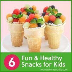 6 Fun & Healthy Snacks for Kids ❀◕ ‿ ◕❀ http://www.vivianhealthyrecipes.com
