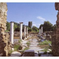 ancient Pella - Macedonia, Greece ❤ liked on Polyvore featuring backgrounds, greece and greek