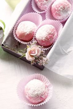 Rosewater scented truffles