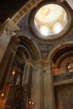 "Castle Howard, Yorkshire England.....an interior shot of the beautiful architecture. No wonder ""Brideshead Revisited"" was filmed here. Can't wait to see in October! http://deuxpoistravel.com/travel-1.html"