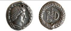 Musei civici di Udine. Quarto di siliqua di Teodorico in nome di Giustino, da Udine.