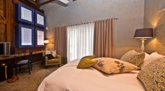 Unit 1A:  Main air-conditioned bedroom with king size bed & flat screen TV.