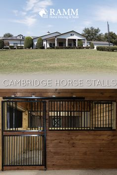 Add strength, style, and most importantly safety to your horse barn. The Cambridge horse stall series feature closer bar spacing, fully welded doors & grillwork, and many more customization options! We welcome you to call to get started with your project today 📞800-826-1287  #cambridgestalls #rammstalls #rammprojects #horsestalls #horsestable #horsestallideas #equestrianideas #horses #dreambarn #dreamhorsestalls #weldedstalls #horsefarm