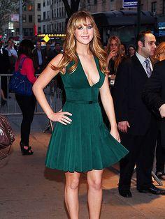 Jennifer Lawrence - love this green dress!