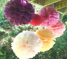 I am so smitten by these pom poms! They make a cute addition to any room or for party decorations :)